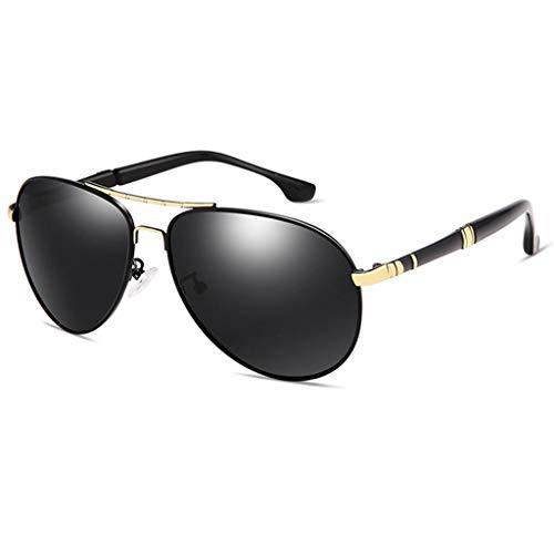 Amcer Polarisierte treibende Sonnenbrille der Männer, Klassische Flieger-Art, 100% UV-Schutz Ultraleichtes Al Mg Golf, der Sport-Sonnenbrille fischt Gold Frame - Gray Lens