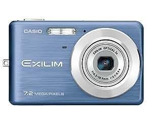 Casio EXILIM EX-Z77 Appareil photo numérique 7MP écran 2,6'' batterie mémoire flash interne 11,4MB slot SDHC / MMC best shot YOUTUBE face detaction bleue