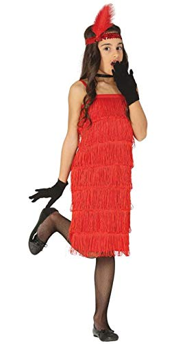 Enter-Deal-Berlin Kinder Mädchen Kostüm Charleston rot Größe 125-135 cm ( 7-9 Jahre ()