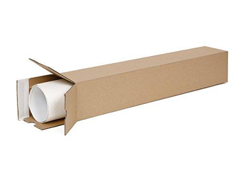 20 Versandhülsen eckig 435 x 105 x 105 mm   Versandhülse A2   Papprolle für Poster- und Dokumentensendung mit selbstklebendem Deckel und Aufreißfaden