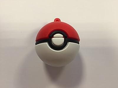 USB420 16GB-32GB Goma Bola Pokemon Rojo de Espacio Gadget