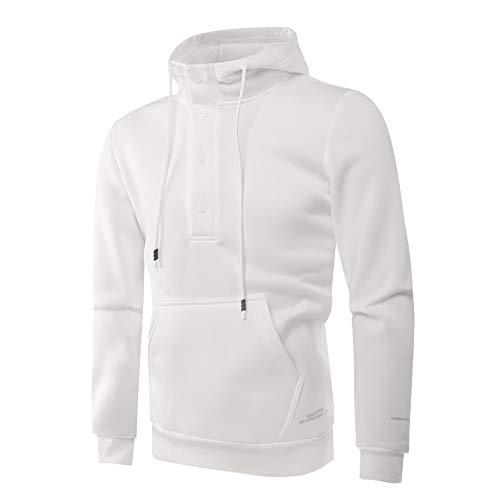 CICIYONER Sweatshir Herren, Herren Herbst Winter Reine Farbe Langarm Freizeit Sweatshirt Outwear...