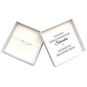 Schwester Geschenk Armband Herz 925 Silber, Geburtstagsgeschenk Schwesterherz