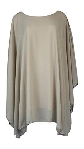 Ozmoint Damen Kleid Beige