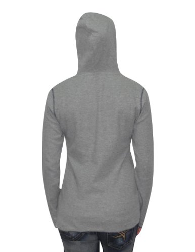 NCAA Pittsburgh Panthers Femme Slim Fit Pullover Long Sleeve Hooded Shirt Gris