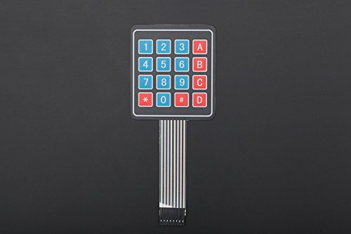 DFRobot Sealed Membrane 4*4 button pad with sticker - DIY Maker Open Source BOOOLE