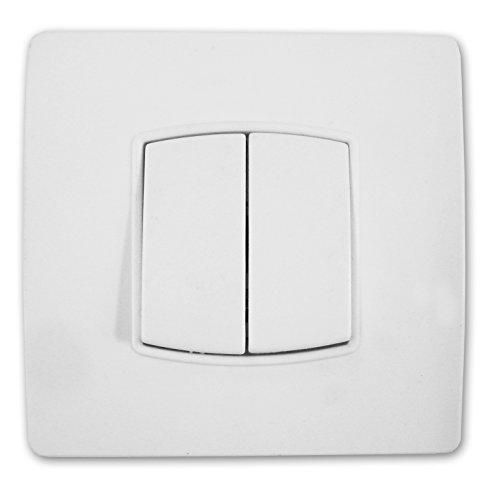 ZENITECH - Interrupteur double va et vient diwONE Blanc
