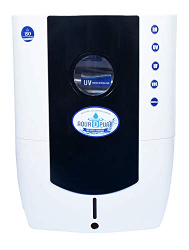 Aquadpure RO+UV+UF+TDS, 12 Liters, 8 Stage Mineral Water Purifier work Upto 2000 TDS (Black)