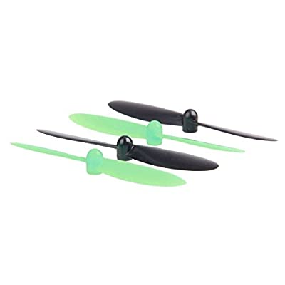 SODIAL(R) 10 pairs propeller Kit for Hubsan X4 H107 RC Quadcopter Drone (Black, Green)