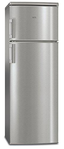 AEG RDB72321AX Kühl-Gefrier-Kombination mit Gefrierteil oben / A++ (185 kWh/Jahr) freistehend mit Glasablagen / 180l Kühlschrank / 43l Gefrierschrank / Höhe: 140,4 cm / Edelstahl