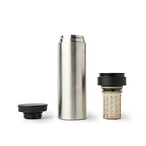 My Life My Shop Refresh Flavor Infusing Beverage Flask - Double Walled Insulation, BPA Free - 16oz/450 mL Titan Insulated Mug