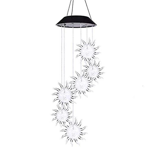 Windspiel Garten Hängeleuchte LED Spinner Lampe Farbwechsel Windklangspiel Klang Spiele Anhänger für Party Hochzeit Dekor ()