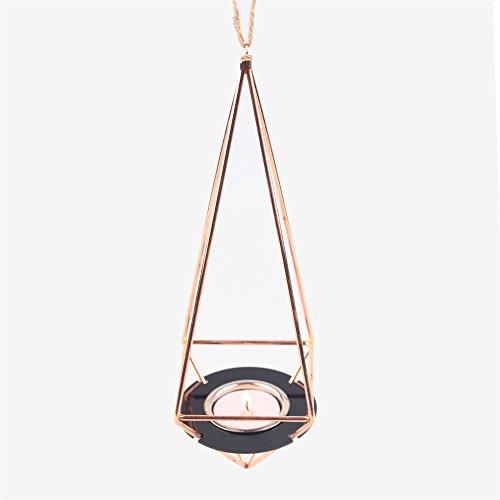 Hanging geometrico, Custodia porta candela set Himmeli Oro Rosa