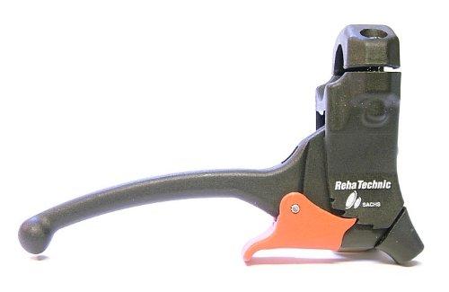 Varios Bremsgriff / Bremshebel mit Arretierung / Parkhebel - links / rechts; Befestigungsdurchmesser 22 oder 25 mm (D 25mm; Bremszugabgang: 36 Grad; PH: offen)