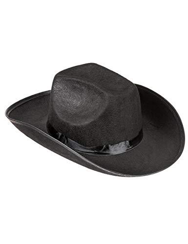 Generique - Prärie Cowboy-Hut für Erwachsene schwarz
