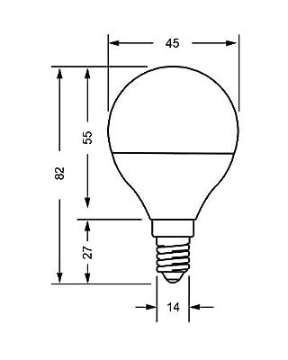 LED FACTORY 5W E14 LED Lampen, Warmweiß, Ersatz für 50W Glühlampen, 400lm, 2800K, 270° Abstrahlwinkel, LED Leuchtmittel, LED Birne, 10er Pack