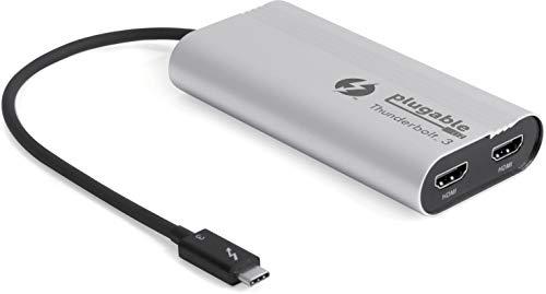 -3-nach-Dual-HDMI 2.0-Bildschirmadapter, kompatibel mit dem MacBook Pro Ende 2016/2017/2018 (unterstützt bis zu Zwei 4K-60-Hz-Monitore) ()