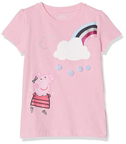 NAME IT Baby-Mädchen NMFPEPPAPIG TIA SS TOP LIC T-Shirt, Rosa Prism Pink, (Herstellergröße: 80) - Prism Pink Bekleidung