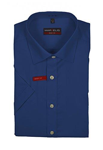 Marvelis - Body Fit - Herren Kurzarm Hemd, Bügelleicht (6799/12) Blau (13)
