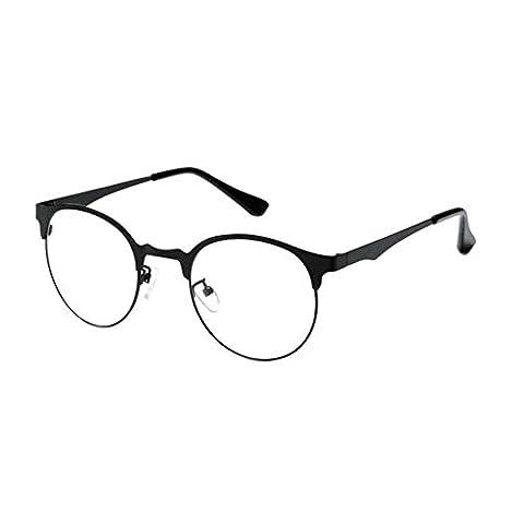 Haodasi Damen Herren Jahrgang Optische Gläser Runden Voll Rahmen Brille