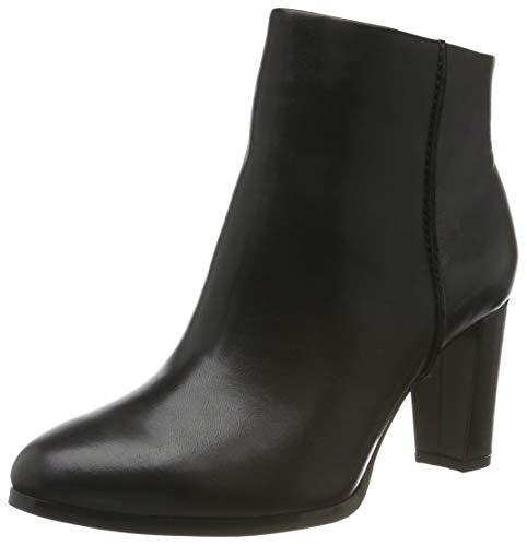 Clarks Damen Kaylin Fern Stiefeletten, Schwarz Black Leather, 39 EU