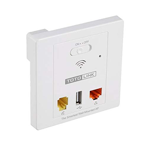 Totolink 300 Mbps In-Wall Wireless Access Point (WA300) -