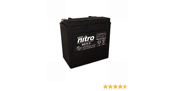 Bater/ía 12 V 14 Ah HVT 03 Gel Nitro XL X Sportster Forty-Eight 10-14