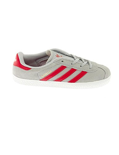 Adidas Originals Gazelle 2 Infant Solar Blue Suede Trainers Gris