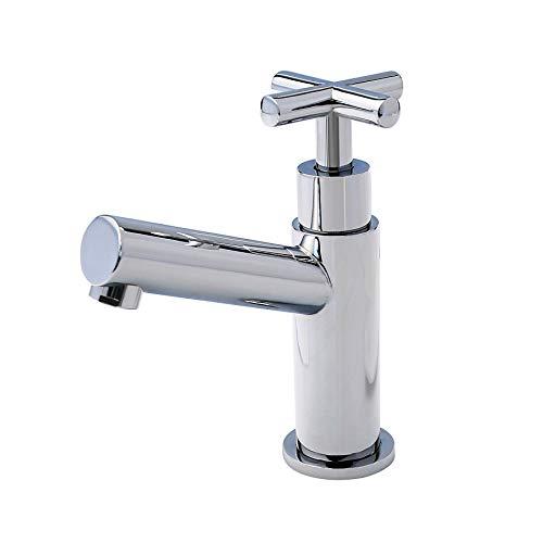 BURGTAL LENCO   Badarmatur - Waschtischarmatur   Standhahn mit Kreuzgriff   Kaltwasser   Chrom -
