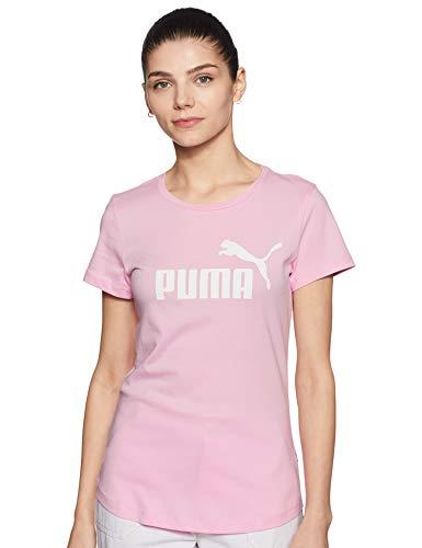 Puma Damen ESS Logo Tee T Shirt, Pale Pink, M - Erwachsenen-kleidung Frauen Für