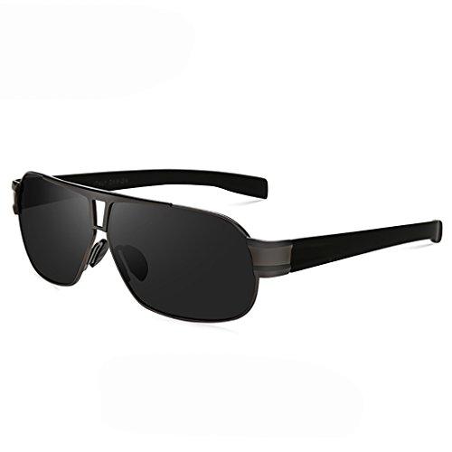 Sonnenbrillen Männer Fahren Sonnenbrillen Gläser/Polarisieren Spiegel Sonnenbrillen Square High-Definition-Treiber-spezifischen Fahrspiegel Brille (Farbe : 2)