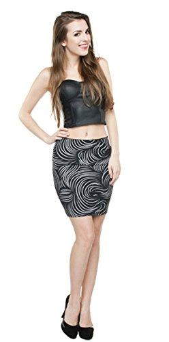 rmini Hair Stripes Minirock Hüftrock Stretchrock Party Sommerrock Blickdicht (Party Rock Zebra Kostüm)