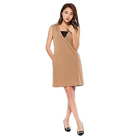 Good dress Sleeveless Weste Kleid,braun,XL