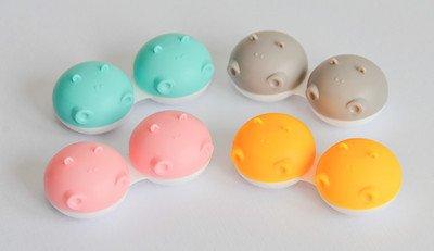 Sports Vision's Neu 3 Stück Hippo Tier Grau Kontaktlinsenbehälter/ Behälter für Einweichen CE-gekennzeichnet und FDA-zugelassen
