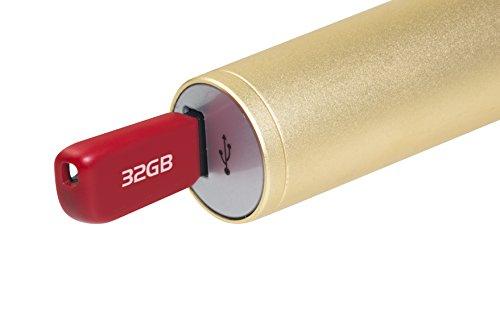 MusicMan 4685 Karaoke Mikrofon BT-X31 (Bluetooth, kompatibel mit Smartphone/Apple iPhone gold/weiß - 7