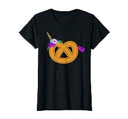 Lustiges Brezel Einhorn Spruch Humor Kostüm Ersatz  T-Shirt
