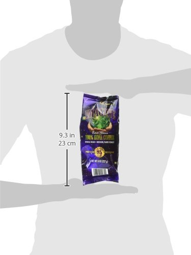 Kona Coffee Beans by Imagine - 100% Kona Hawaii - Medium Dark Roast Whole Bean - 8oz Bag