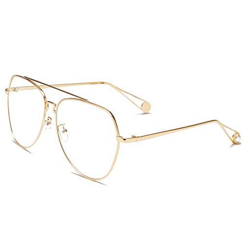 Einfache Brille 100% UV-Blockierung polarisierte Sonnenbrille Frauen Männer Retro Brand Sun Glasses (Farbe : Weiß, Größe : Casual Size)