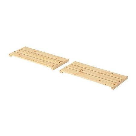 Ikea gorm regal  IKEA GORM -Regal Weichholz / 2 pack - 77x31 cm: Amazon.de: Küche ...