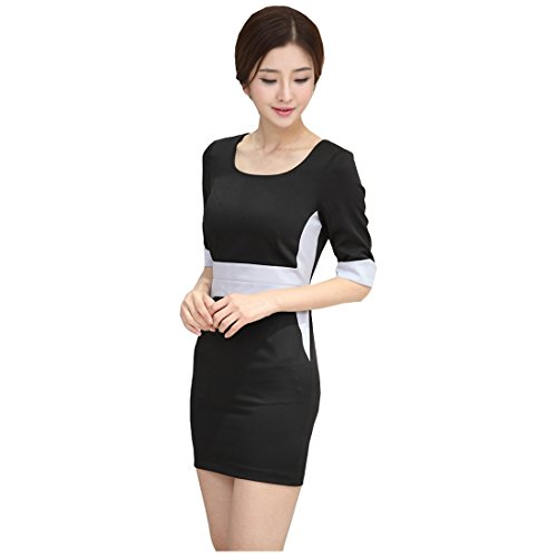 partiss Femme slim fit manches courtes OL robes - Black-R
