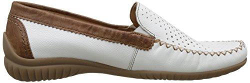 Gabor Shoes Comfort, Mocassins Femme Blanc (weiss/copper 50)