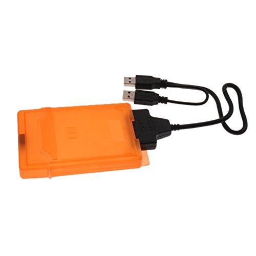 D DOLITY SATA USB3.0 Adapterkabel 2X USB 3.0 Port zu SATA Kabel für 2,5-Zoll-SATA-Notebook-Festplatte unterstützt Mehr als 3 TB Harddrive Inkl. HDD-Box