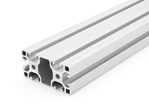 Aluminiumprofil 40x80L I-Typ Nut 8 - Zuschnitt 50mm-2000mm (25,00 EUR/m + 0,50 EUR pro Schnitt, min. 2,50 EUR) 800mm