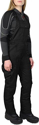 NOS Damen Winterhose Wasserdiche Winddichte Latzhose Softshellhose mit Hosenträgern Farbe Schwarz Größe L
