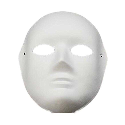 10 Stück White Mask Kostüm Maske Malerei Full Face Maske DIY Papier Maske Leere Maske