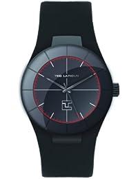 Ted Lapidus - 5122802 - Montre Homme - Quartz Analogique - Cadran Noir - Bracelet Cuir Noir