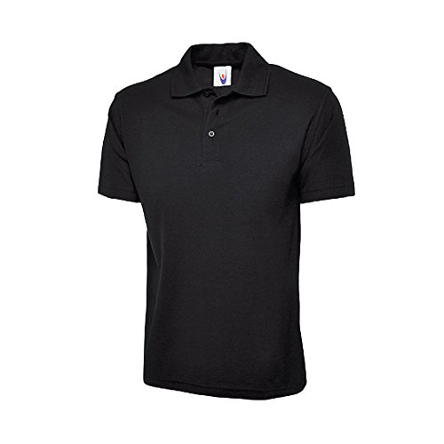 Uneek UC101 Polyester/Cotton Unisex Classic Pique Polo Shirt with Knitted Collar and Hemmed Sleeve