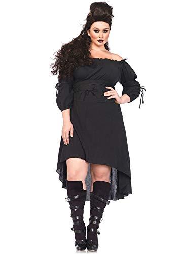 Leg Avenue 2700X - Feinmaschigen Bauern kleid, Größe 3X-4X (EUR 48-50) (Bauer Kostüm Übergröße)