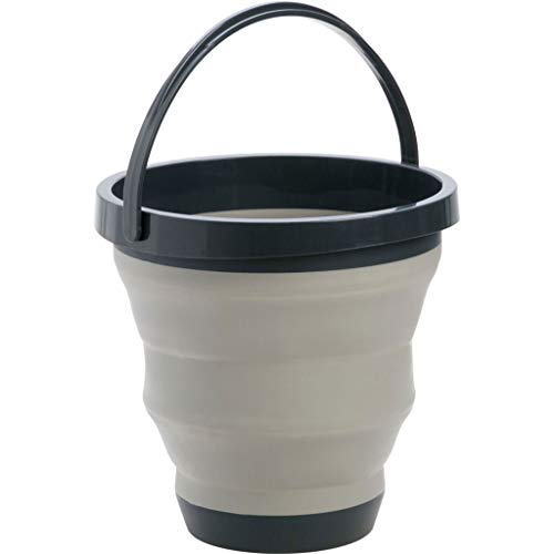 Tragbare Faltbare zusammenklappbaren Wassereimer für Angeln, Camping, Autowäsche, Home Storage und Outdoor-Waschen Eimer Wasser Container 2,65 Gallonen Grau -
