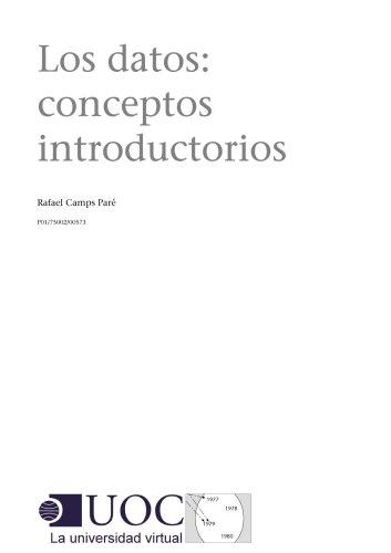 Los datos: conceptos introductorios por Rafael Camps Paré